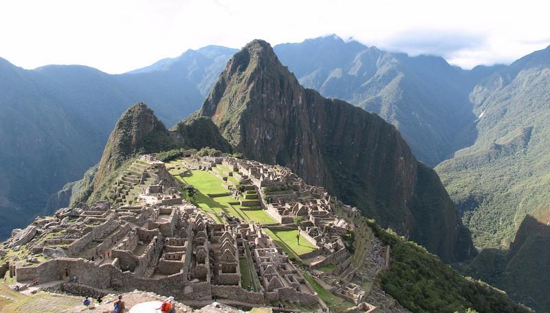panorama op Machu Picchu (Peru 2009, Machu Picchu 2430m.)
