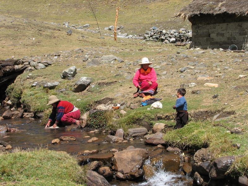 Washing place near the house (Peru 2009, Cordillera Blanca)