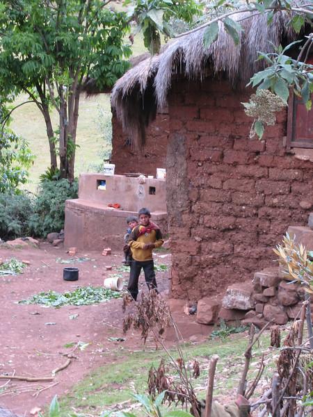 mud houses (Peru 2009, Cordillera Blanca)