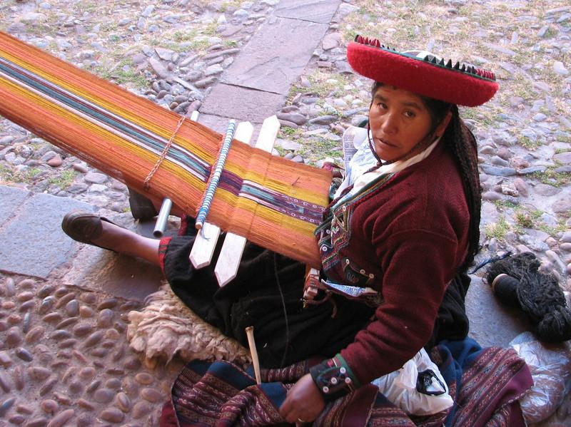 weave art, as handy craft (Peru 2009, Cusco 3360m. )