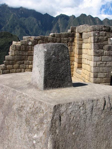 the sun clock (Peru 2009, Machu Picchu 2430m.)