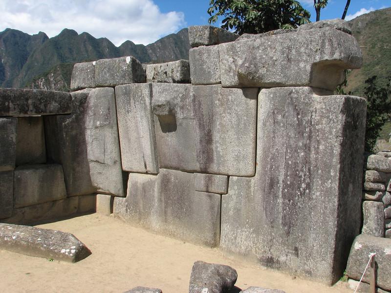 also big stones are used (Peru 2009, Machu Picchu 2430m.)
