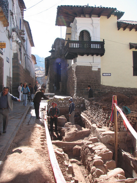 Archaeological sites of Inca foundations (Peru 2009, Cusco 3360m. )