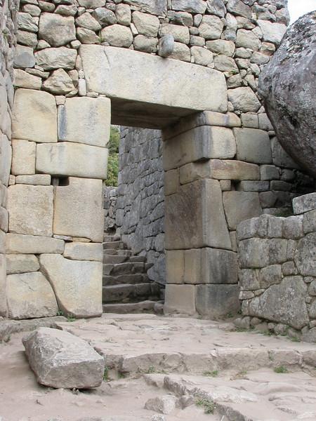 the only entrance gate of Machu Picchu (Peru 2009, Machu Picchu 2430m.)