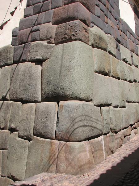 Corner of Hatum- Rumiyoc street, wall of the sun temple (Peru 2009, Cusco 3360m. )