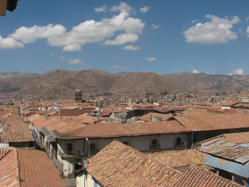 Overview from the hostel (Peru 2009, Cusco 3360m. )