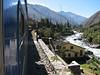 train: Aquas Calientes to Machu Picchu 2430m. (Peru 2009, near Machu Picchu 2430m.)