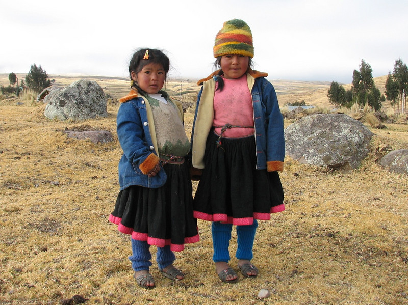 the first kids seen during our second Ausangate - track (Peru 2009, Nevado Ausangate)