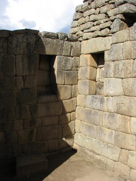 a nice alcove (Peru 2009, Machu Picchu 2430m.)