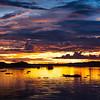 Sunset in the Peruvian Amazon