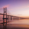 Sunrise On Vasca Da Gama Bridge
