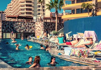 The pool scene