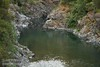 Rocky canyon of the South Fork Smith River, seen looking upstream from the bridge on South Fork Road (6/30/2008, east of Jedediah Smith Redwoods SP, Redwoods trip)