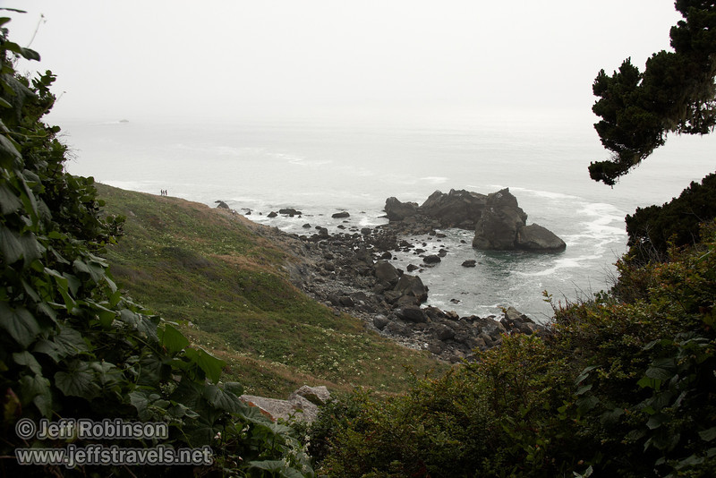 Rocky coastline (7/2/2008, Rim Trail, Patrick's Point SP, Redwoods trip)