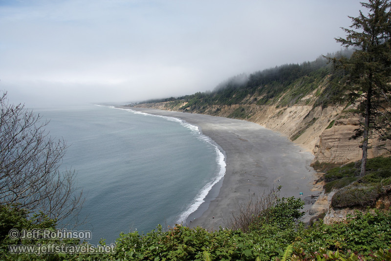 Agate Beach, seen from trail head of Agate Beach Trail (7/2/2008, Patrick's Point SP, Redwoods trip)