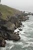Rocky coastline with surf (7/2/2008, Rim Trail, Patrick's Point SP, Redwoods trip)