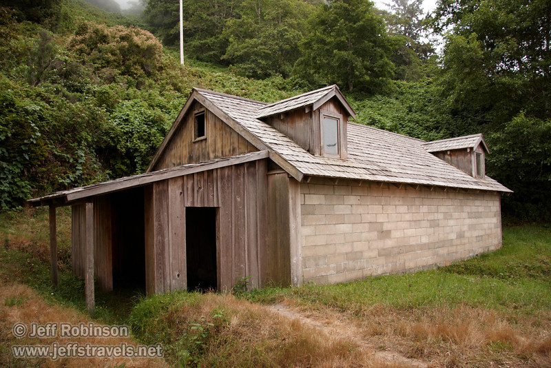 World War II Radar Station disguised as farm buildings (7/1/2008, Coastal Drive at the World War II Radar Station,  Redwood NP, Redwoods trip)