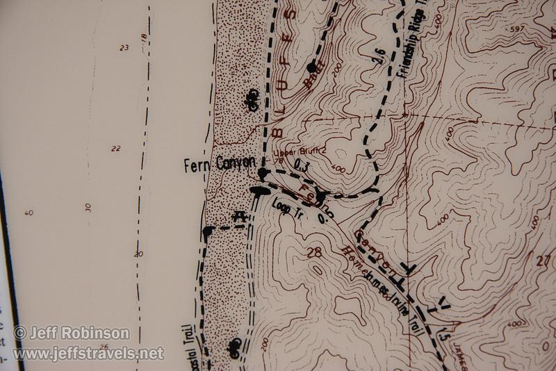 Map for Fern Canyon trail (7/1/2008, Fern Canyon trail,  Prairie Creek Redwoods SP, Redwoods trip)