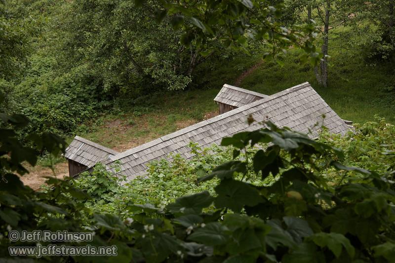 World War II Radar Station disguised as farm buildings (7/1/2008, Coastal Drive at the World War II Radar Station,  Redwood NP, Redwoods trip)