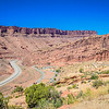 Partway up the drive into Arches National Park