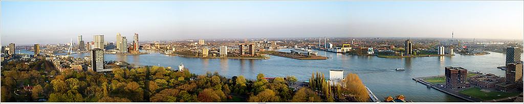 Skyline of Rotterdam.