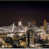 NIghtview on the skyline of Rotterdam - Painting version