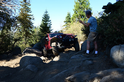 Hence the need for a spotter.  But even for the spotter the obstacle looks different with the Jeep in it.