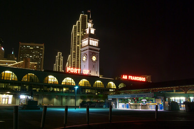 The view from behind the Ferry Building back towards the Embarcadero Center