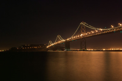 The Bay Bridge from a location just west of the bridge along the Embarcadero