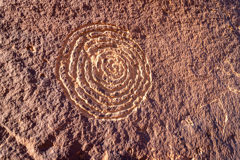 Spiral Petroglyph near the River House