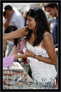 Preethi Shopping at Fair