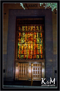 Stained Glass Artwork of Alamo