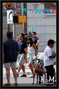 Ricardo and Preethi Crossing the Street