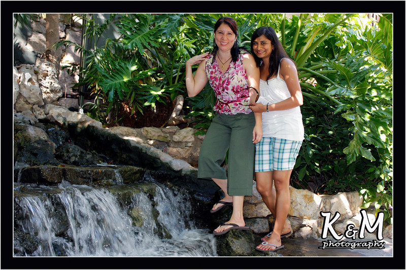 Monique and Preethi at Riverwalk