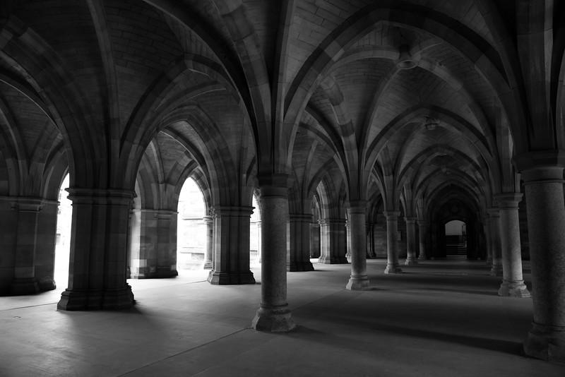The cloister of Glasgow's University