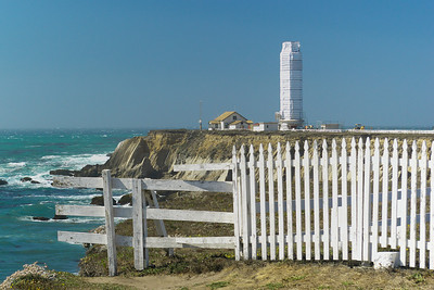Point Arena Lighthouse under wraps