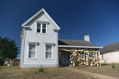 Interesting house with bouys at the front
