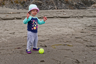 Linnea overcame her fear of walking on the sand and the beach