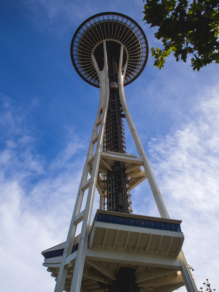 Space Needle from Bottom