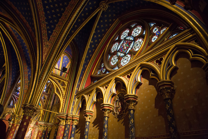 The Sainte chapelle's lower level