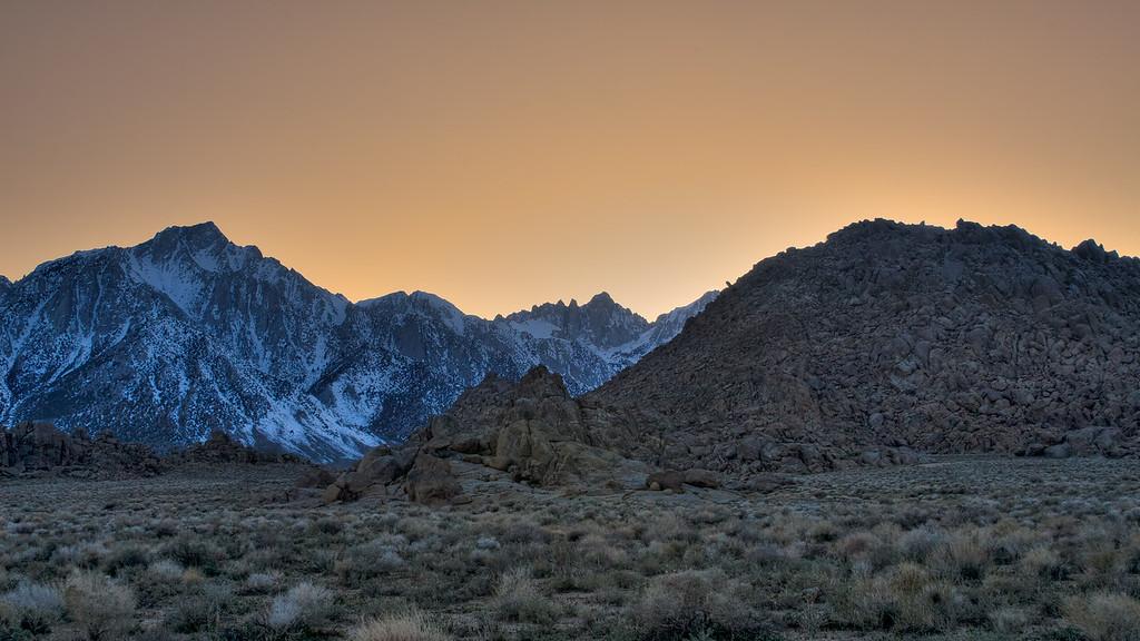 Eastern Sierras at Dusk