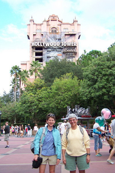 Since the park is not terribly crowded, we are able to ride the Tower of Terror many times...with a different and terrifying experience each time!