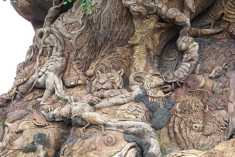 Closeup of one section of the Tree of Life.