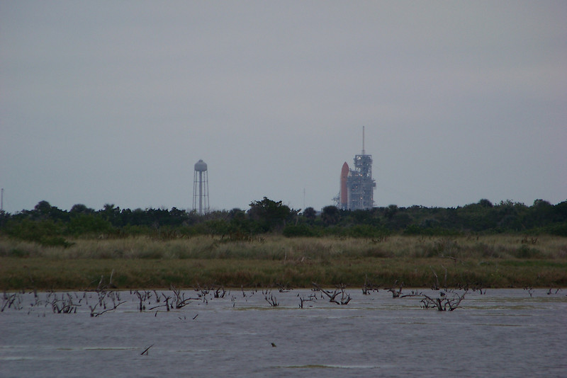 Day 5: We head to the Space Coast, starting with Cape Canaveral National Seashore.  Our trip was originally scheduled during a space shuttle launch, but it was delayed for a few days.  We see the shuttle on the launch pad and ready to go.