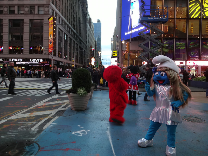 Times Square...craziness going on as usual.