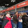 Patti picks up her packet for the New York City Marathon, which she will not end up running...but she doesn't know that yet!