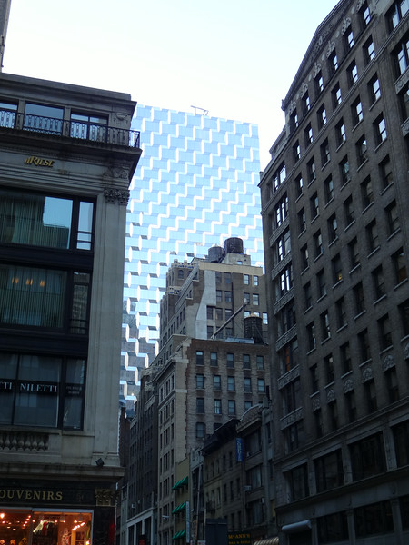 Jeane likes the architecture in this corner...the very old juxtaposed with the very new.