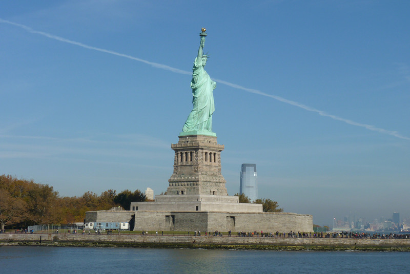 We load up the boat and depart from Liberty Island