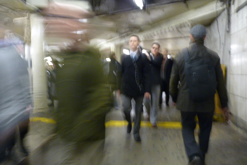 Our tour is on a weekday morning, so we find ourselves in the subway during rush hour.  Pretty big rush!