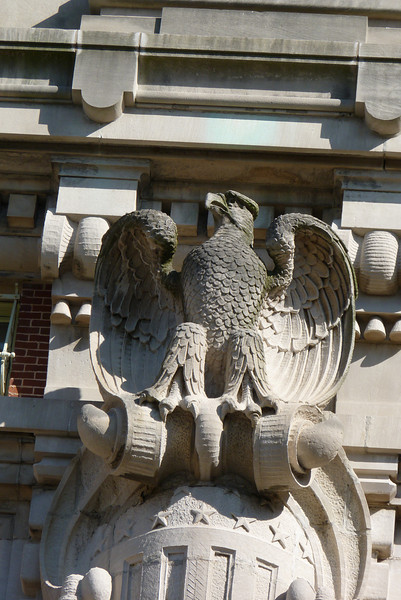 We thought this gargoyle looked a little like Sam the Eagle (muppet).